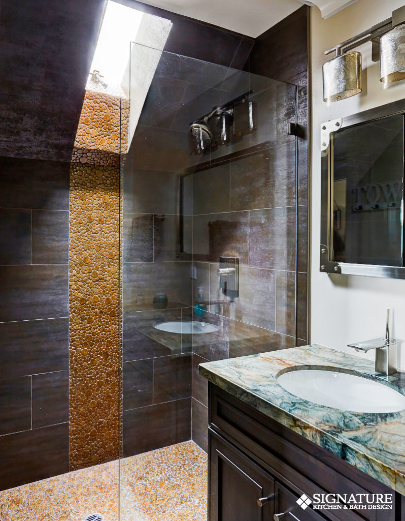 Industrial Chic Los Gatos Bathroom Design